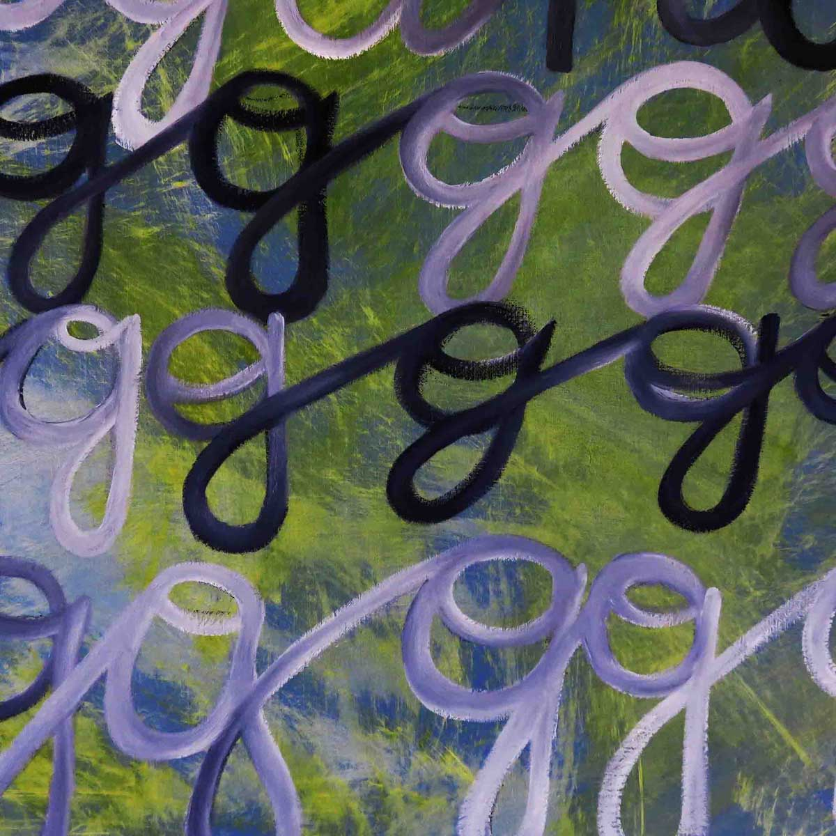 """g is for gregarious"" - Detail"